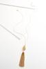 Brass Tasseled Filigree Pendant Necklace