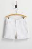 Cuffed White Jean Shorts