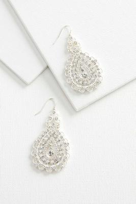 pave filigree chandelier earrings