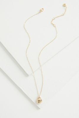 initial pendant necklace-c