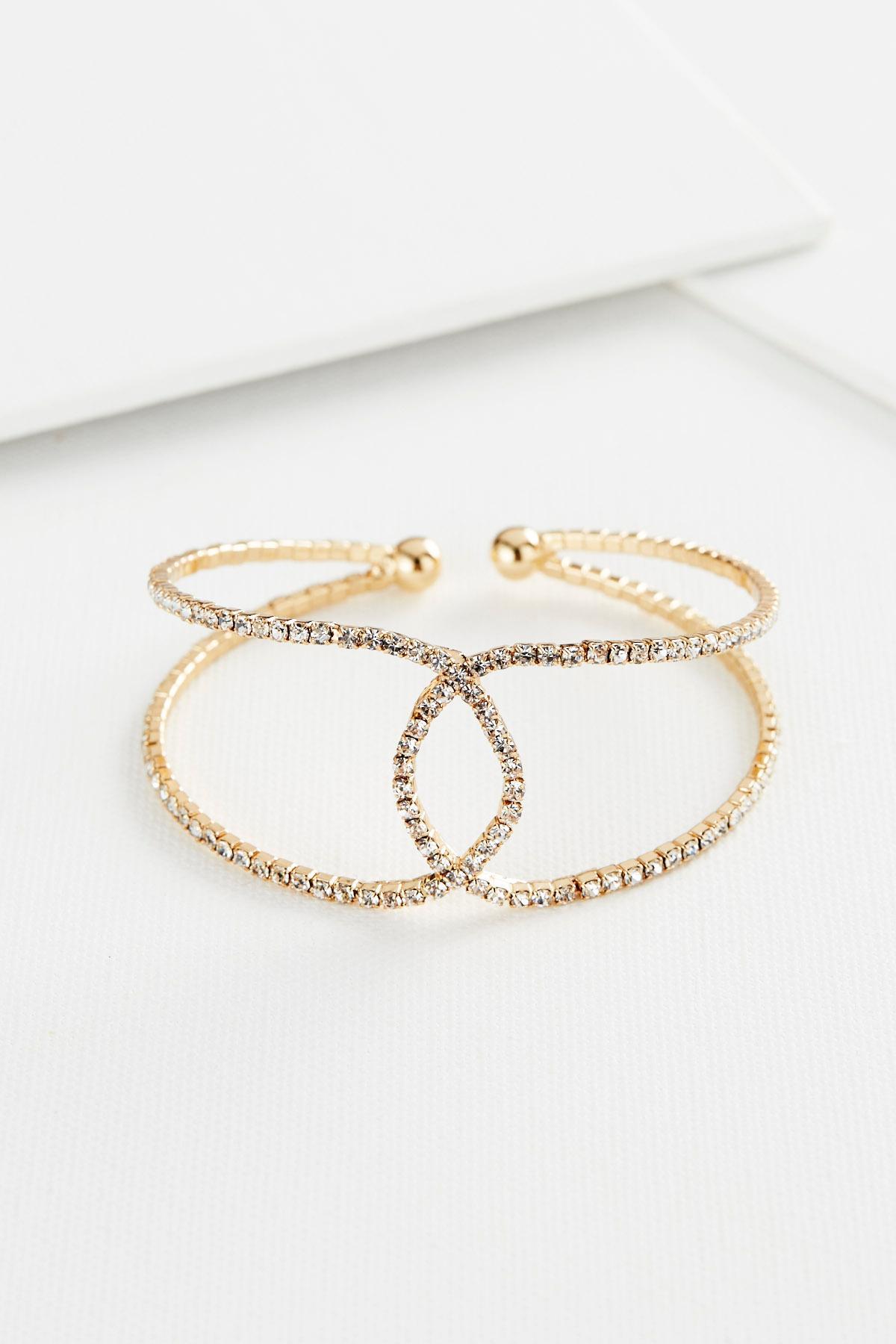 Interlocked Pave Cuff Bracelet