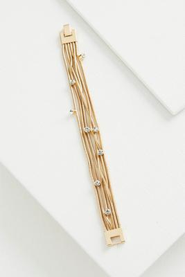 rhinestone snake chain bracelet