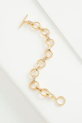 pave clasp twist link toggle bracelet