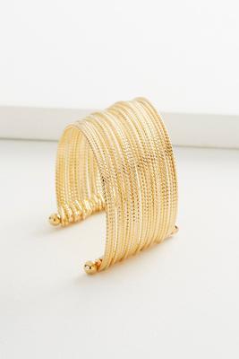 shaky metal cuff bracelet