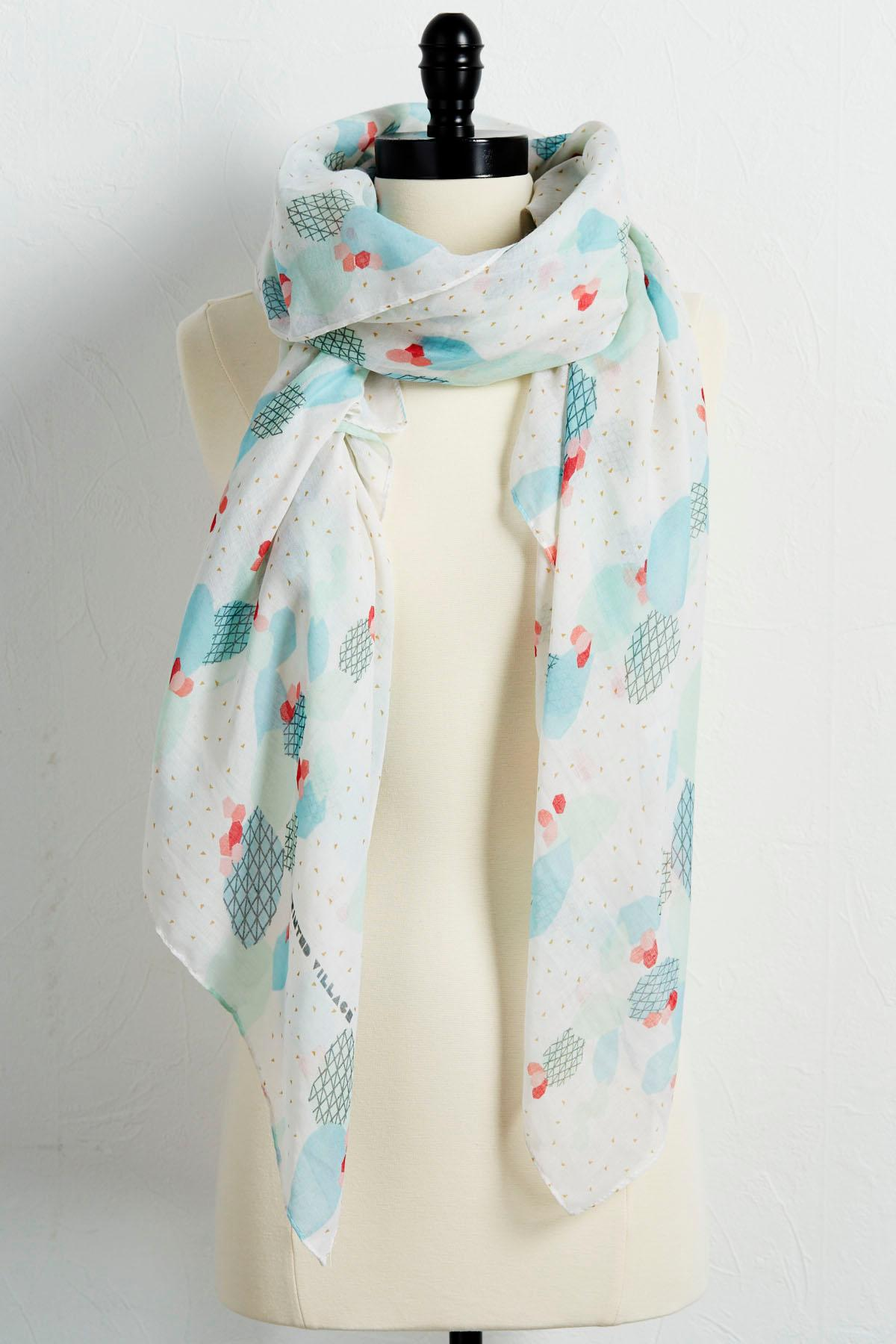 Cacti Oblong Scarf