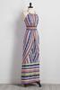 Mitered Tribal Striped Maxi Dress