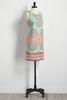 Bordered Retro Floral Sheath Dress