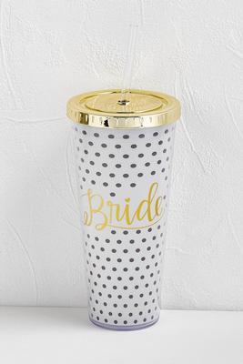 bride traveling tumbler