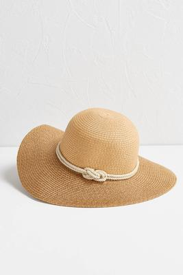 knotted rope band floppy hat