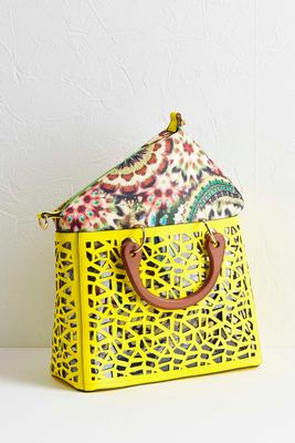 neon laser cut bag in bag set