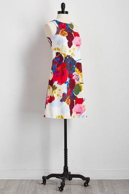 watercolor floral shift dress