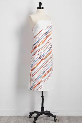 painter striped shift dress