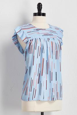 dash striped babydoll top