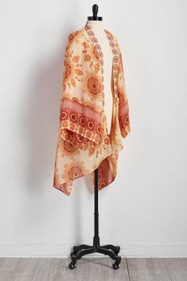 floral medallion kimono cardigan