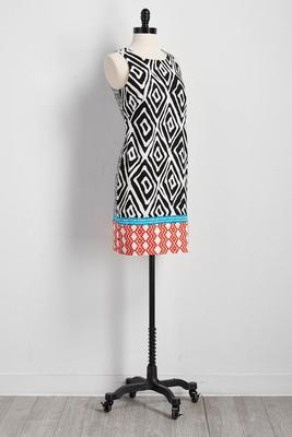 mixed tribal sheath dress