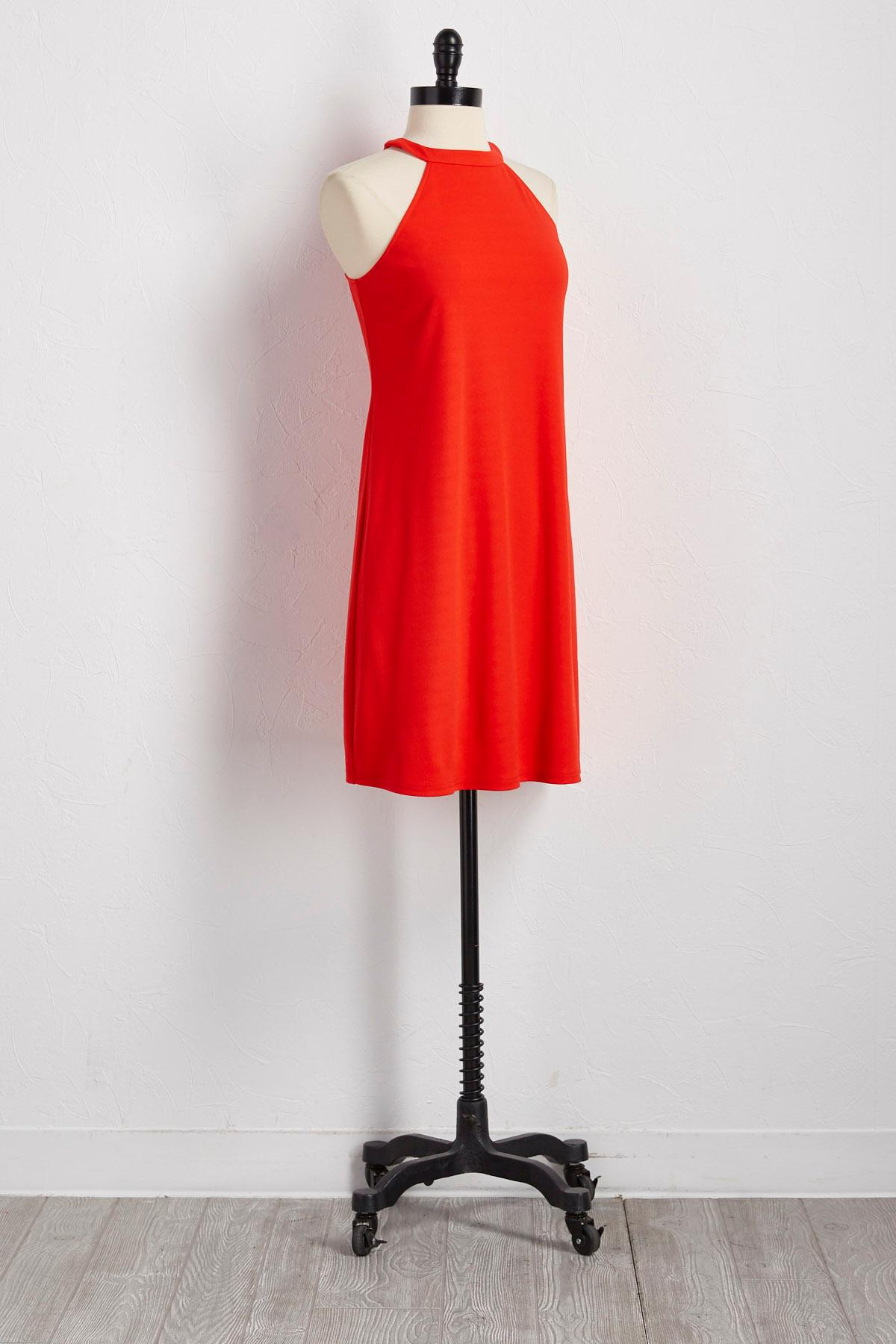 Cleo Neck Shift Dress