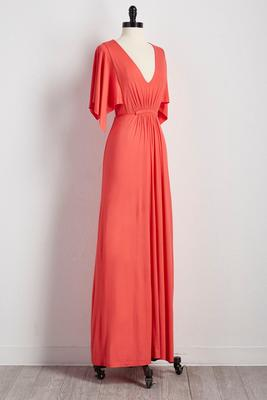 batwing tie waist maxi dress