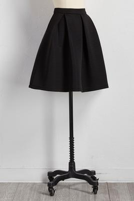 shadow striped a-line skirt