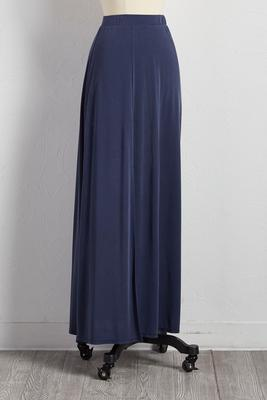 slit silk wash maxi skirt