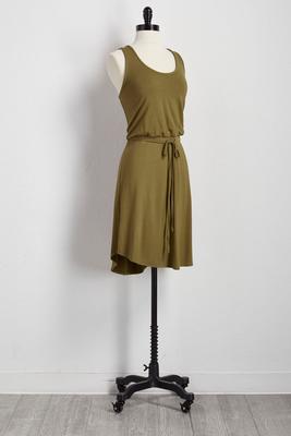 drawstring lounge dress