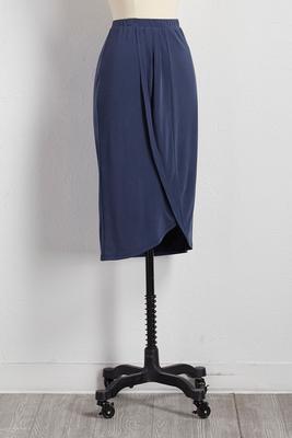 silk wash tulip hem skirt
