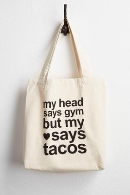 tacos novelty canvas tote