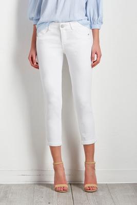 optic white skinny crop jeans