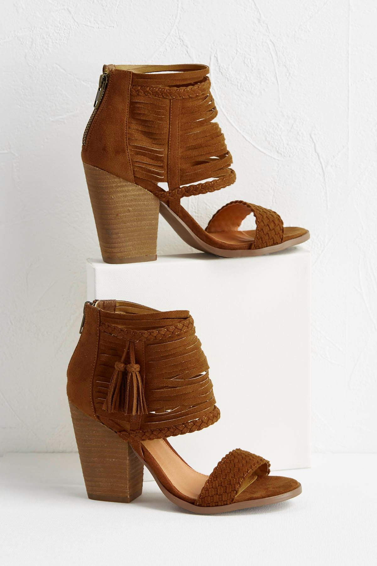 Banded Ankle Braid Tassel Shooties