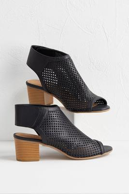 perforated slingback shooties