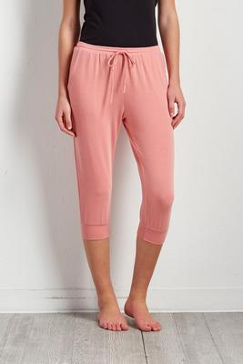 drawstring lounge crop joggers