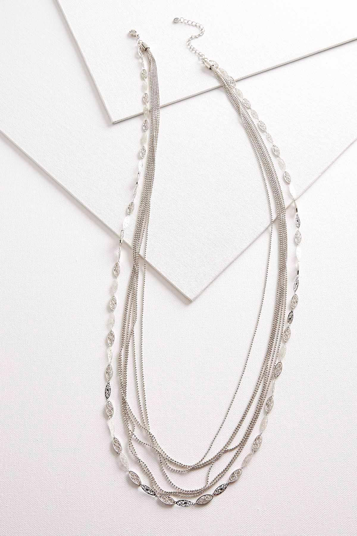 Brass Mixed Chain Layered Necklace