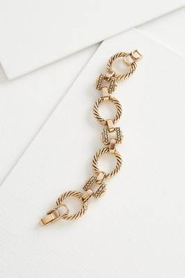 rope textured link bracelet