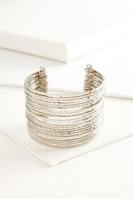 hammered metal cuff bracelet