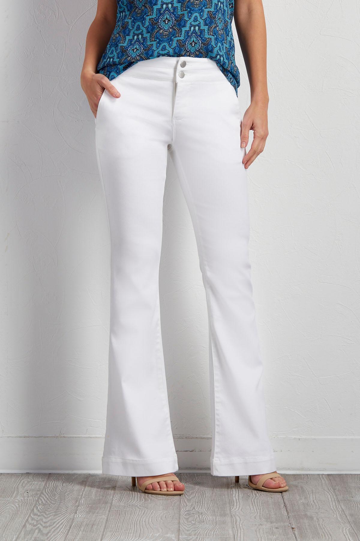 Versona | white flare trouser jeans
