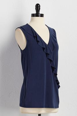 ruffled surplice tank