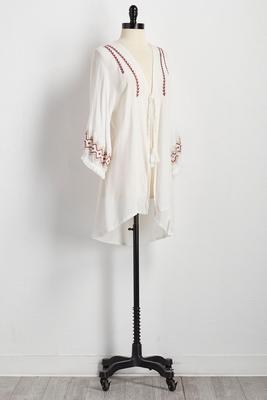 embroidered kimono cardigan