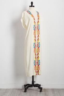 embroidered trim kimono cardigan