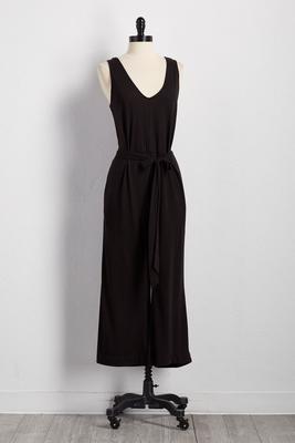 tie waist crop jumpsuit