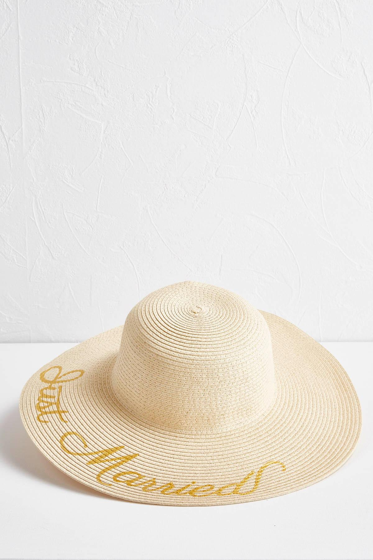 Just Married Floppy Hat