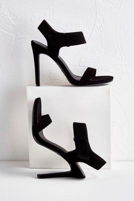 slingback ankle strap velcro heels