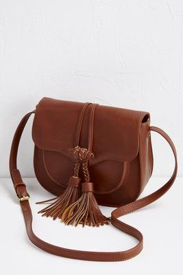 braided tassel saddle bag
