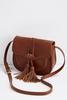 Braided Tassel Saddle Bag