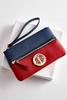 Colorblock Medallion Wristlet