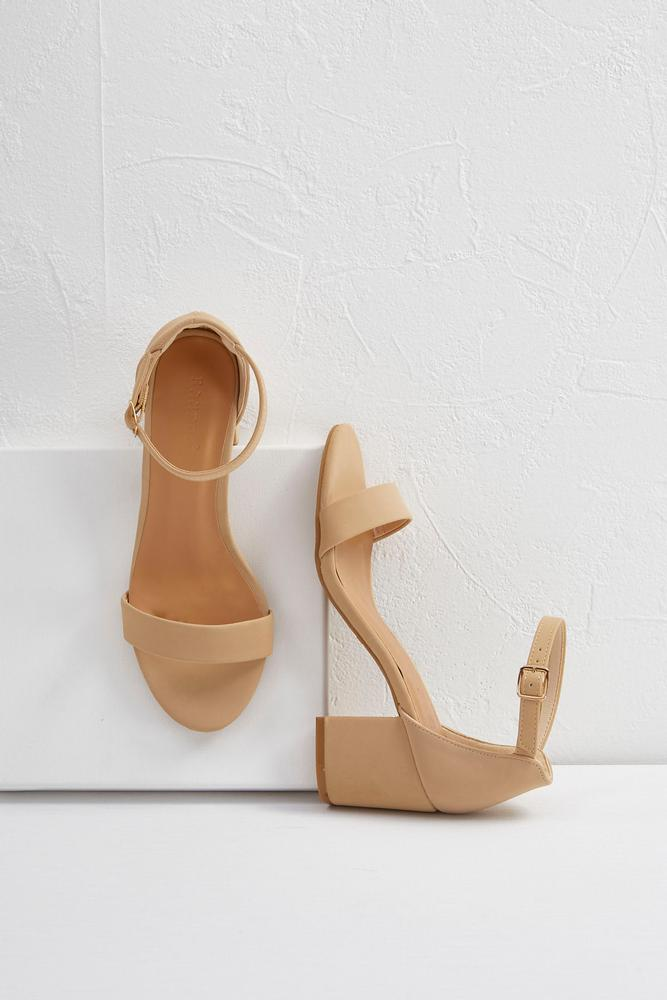 Ankle Strap Low Block Heels