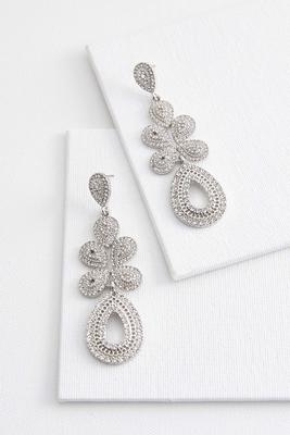 geometric pave statement earrings