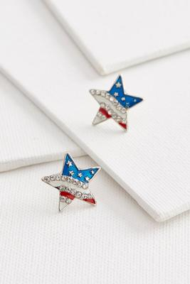 americiana star stud earrings