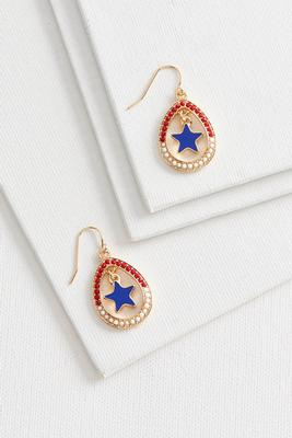 star centered dangle earrings