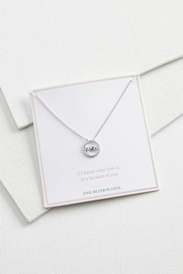 cz mom pendant necklace