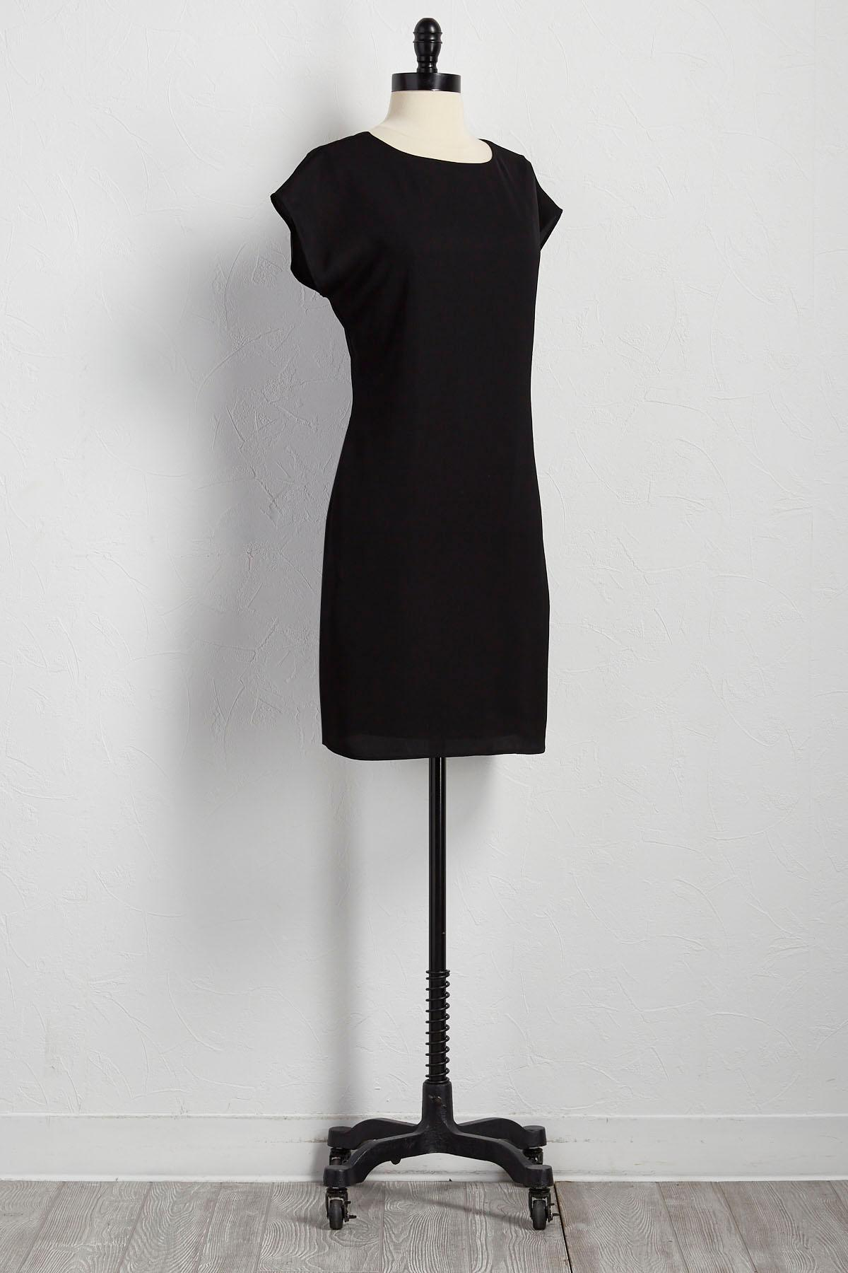 Crushed Satin Shift Dress