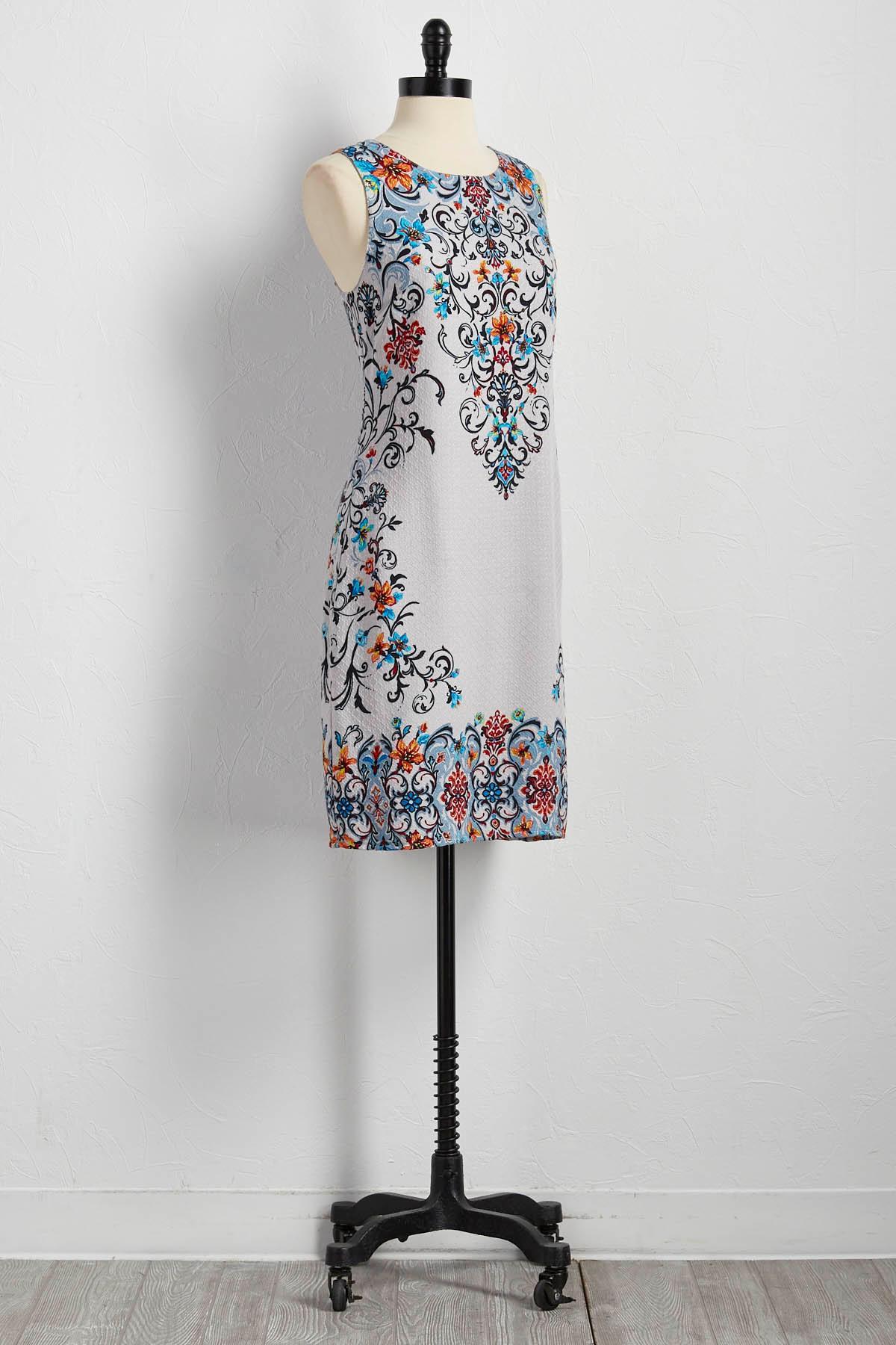 Floral Placement Shift Dress